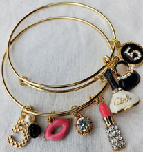 Load image into Gallery viewer, Beautiful Custom Charm Bracelets (Lips)