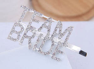 Team Bride Hair Clip