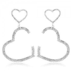 Twin Hearts Fashion Earrings