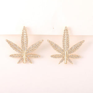 4/20 Rhinestone Earrings