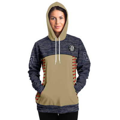 Customized Softball Queen Hoodie (Knitted Pattern/ Gold)