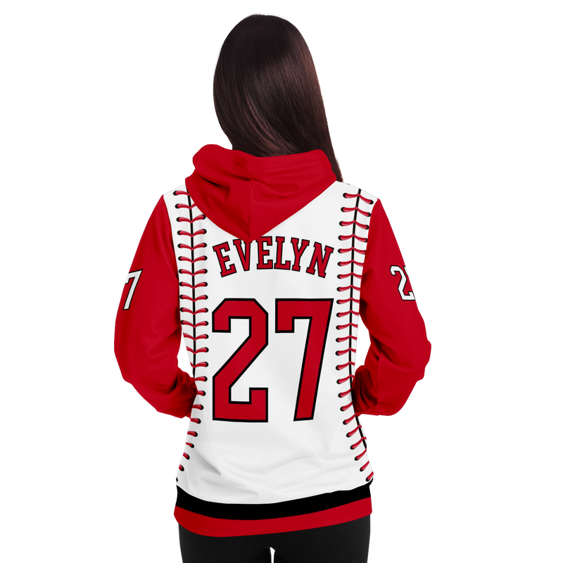 CLASSIC SERIES HOODIE (WHITE V3 & RED)