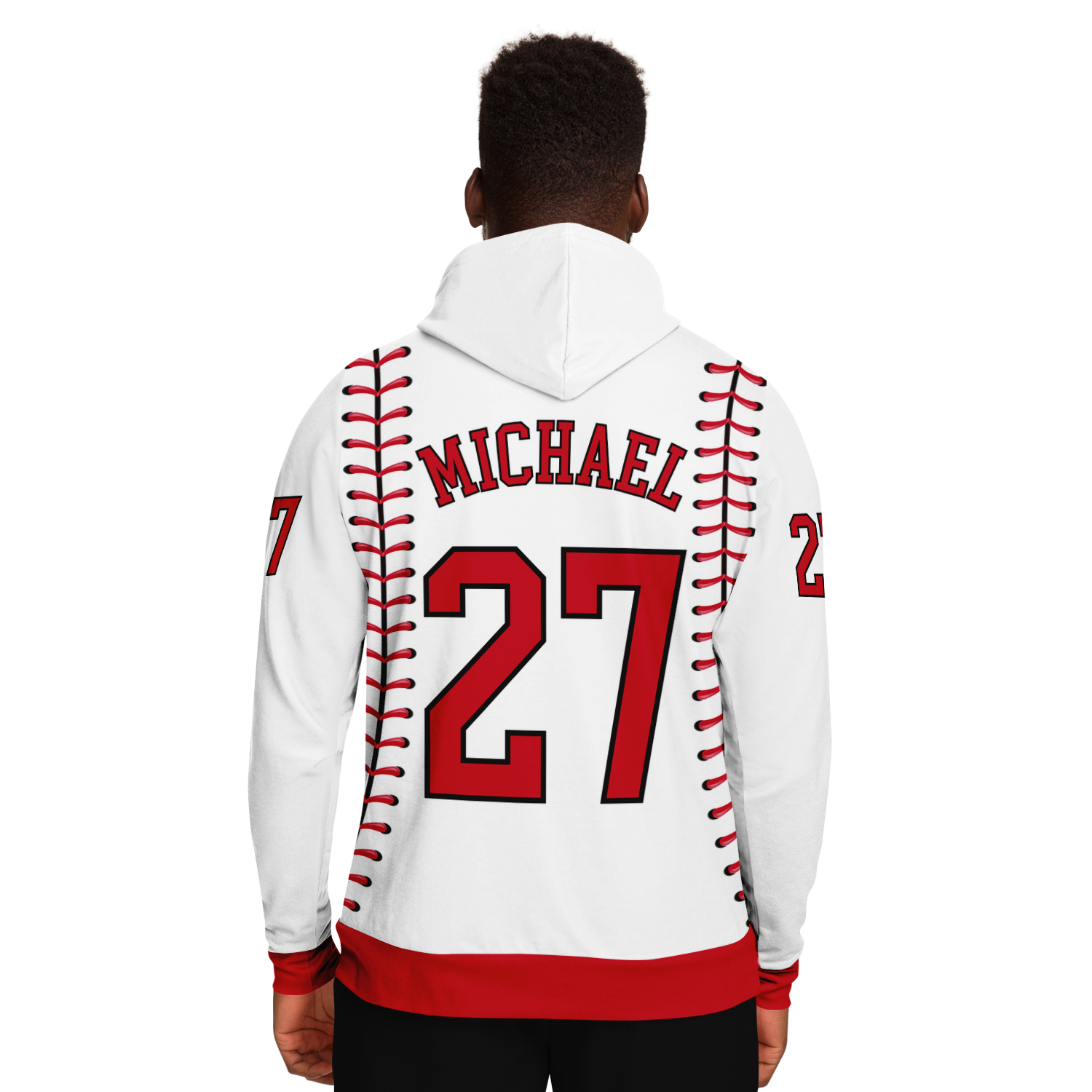 CLASSIC SERIES HOODIE (WHITE & RED)