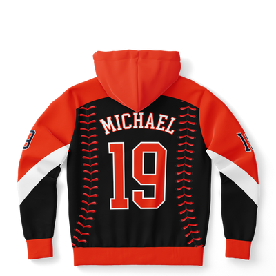 CLASSIC STITCHES SERIES HOODIE (BLACK/ CINNABAR)