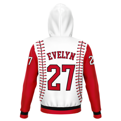 CLASSIC SERIES HOODIE (WHITE V2 & RED)
