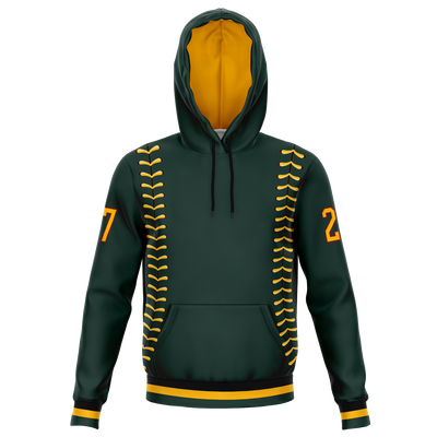 CLASSIC SERIES HOODIE (DARK GREEN/ YELLOW)