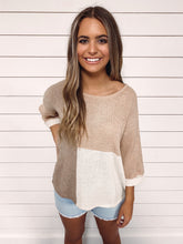 Load image into Gallery viewer, Tabitha Colorblock Knit Top