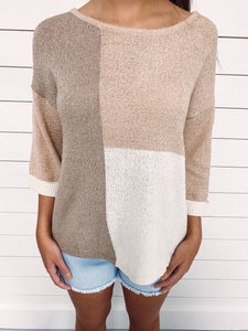 Tabitha Colorblock Knit Top