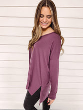 Load image into Gallery viewer, Carly V Neck Top - Eggplant