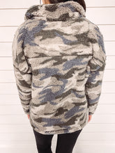 Load image into Gallery viewer, Raleigh Camo Print Sherpa Pullover