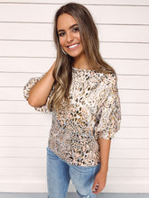 Load image into Gallery viewer, Hazel Animal Print Puff Sleeve Top