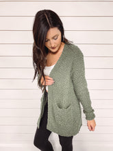 Load image into Gallery viewer, Liza Open Popcorn Cardigan - Sage
