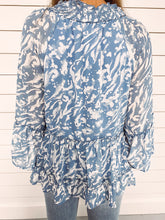 Load image into Gallery viewer, Mystic Blue Printed Top