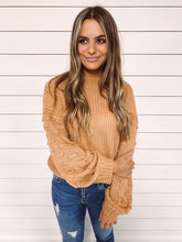 Load image into Gallery viewer, Julie Lantern Sleeve Sweater - Camel