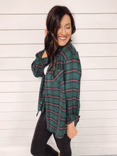 Load image into Gallery viewer, Tinsley Plaid Flannel - Green