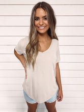 Load image into Gallery viewer, Emily Modal Pocket Tee - Taupe