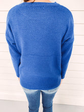 Load image into Gallery viewer, Marley Crew Neck Sweater - Blue