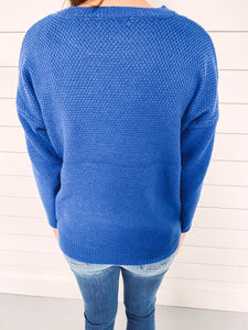 Marley Crew Neck Sweater - Blue