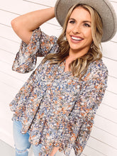 Load image into Gallery viewer, Tully Floral Tiered Top
