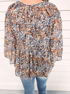 Tully Floral Tiered Top