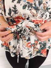 Load image into Gallery viewer, Grace Floral Wrap Blouse - Ivory