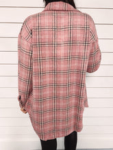 Load image into Gallery viewer, Elise Plaid Shacket - Pink