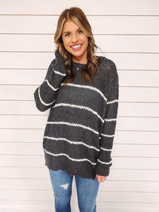 Kathryn Stripe Knit Sweater