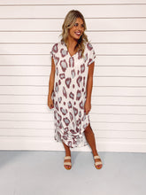 Load image into Gallery viewer, Jacey Leopard Print Maxi Dress - Mauve