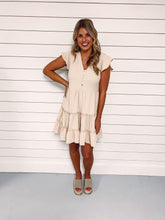 Load image into Gallery viewer, Sadie Taupe Ruffle Tiered Dress