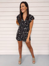Load image into Gallery viewer, Marley Printed Ruffled Romper - Black