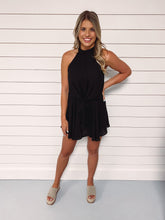 Load image into Gallery viewer, Gabrielle Tie Front Romper - Black