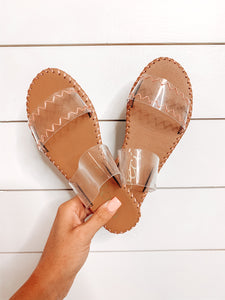 Let's Be Clear Sandal - Tan