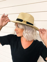 Load image into Gallery viewer, Miranda Straw Fedora Hat