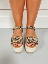 Load image into Gallery viewer, Caroline Leopard Print Sandals