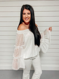 Rosie Off Shoulder Top - White