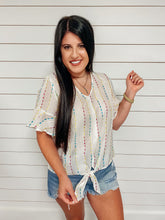 Load image into Gallery viewer, Bella Multicolor Embroidered Top