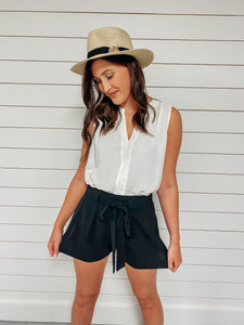On Time High Waisted Shorts - Black