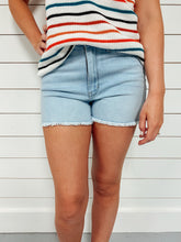 Load image into Gallery viewer, Henley Light Wash Denim Shorts