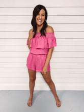 Load image into Gallery viewer, Crush Hot Pink Romper