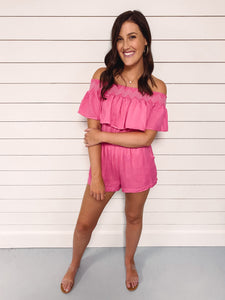 Crush Hot Pink Romper