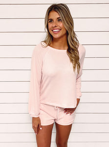 Hazel Knit Loungewear Set - Pink