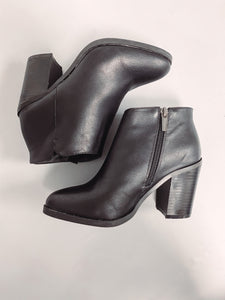 Kendyl Black Faux Leather Booties