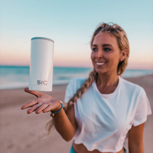SIC Cups Slim Can Cooler - Ice White