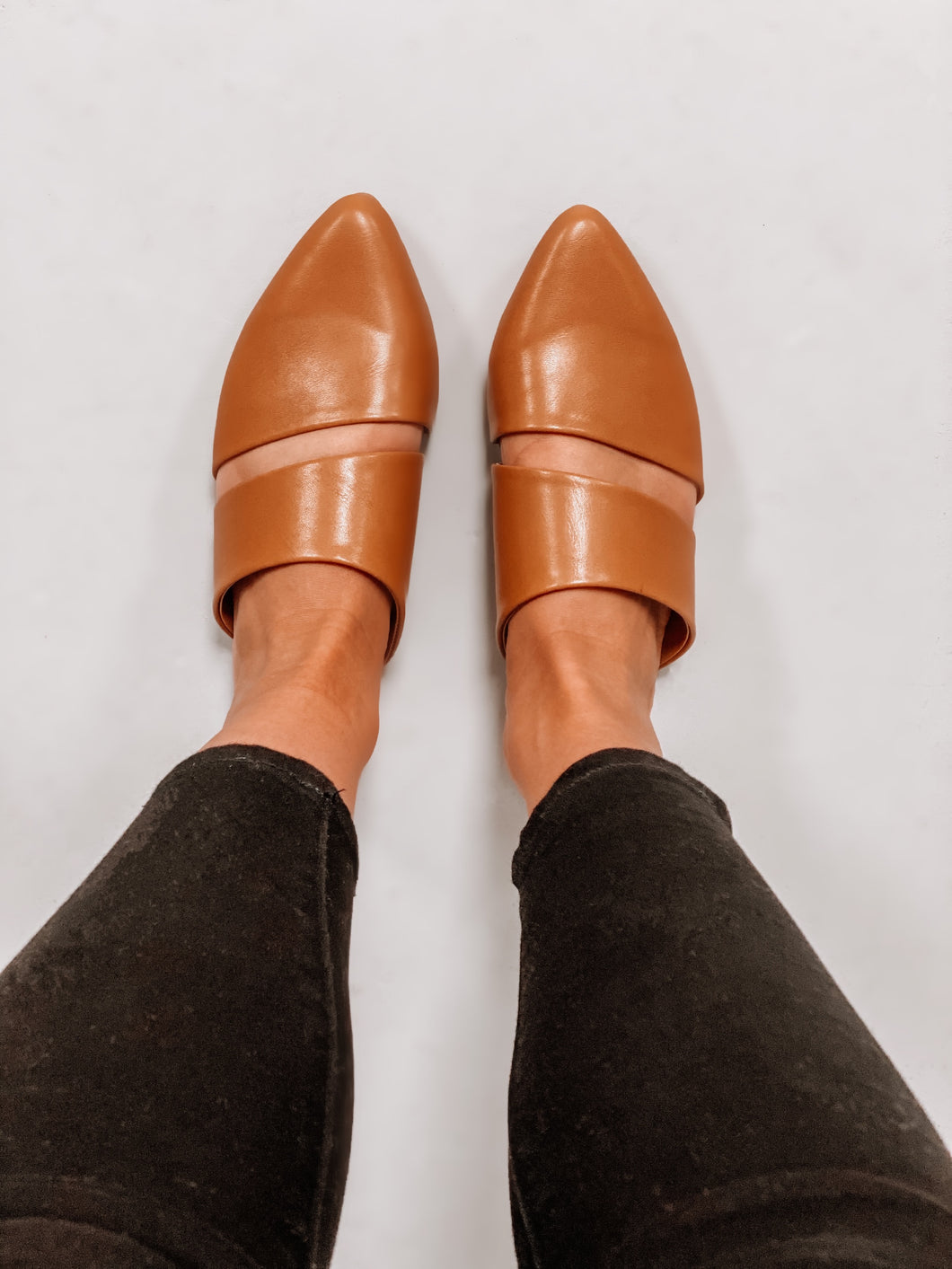 Loren Mules - Camel Leather