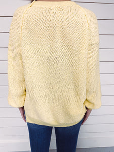 Shea Exposed Seam Knit Sweater - Yellow