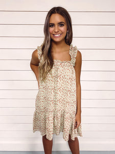 Maren Sage Printed High Low Dress