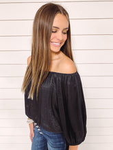 Load image into Gallery viewer, Kristen Off Shoulder Top - Black