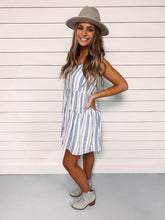 Load image into Gallery viewer, Kensley Blue Stripe Dress