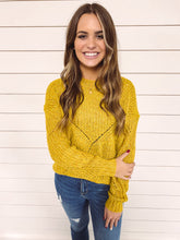Load image into Gallery viewer, Chrisley Knit Sweater - Mustard