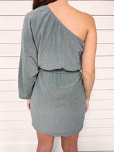 Load image into Gallery viewer, Jenna One Shoulder Metallic Dress